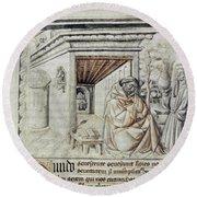 Roger Bacon (1214?-1294) Round Beach Towel