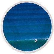 Rolling Waves Round Beach Towel