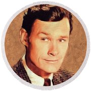 Ron Hayes, Vintage Actor Round Beach Towel