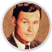 Ron Hayes, Vintage Actor Round Beach Towel