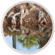 Rooted Reflections Round Beach Towel