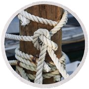 Rope Fence Fragment Round Beach Towel