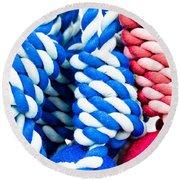 Rope Toys Round Beach Towel