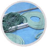Ropes And Bolt Hook Round Beach Towel