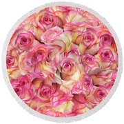 Roses Background Round Beach Towel