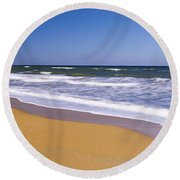 Route A1a, Atlantic Ocean, Flagler Round Beach Towel