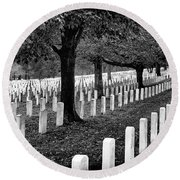 Rows Of Honor Round Beach Towel
