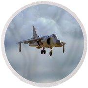 Royal Navy Sea Harrier. Round Beach Towel