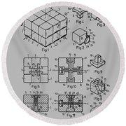 rubik's cube Patent 1983 Round Beach Towel