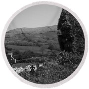 Ruins In The Burren County Clare Ireland Round Beach Towel