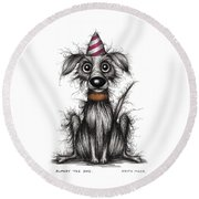 Rupert The Dog Round Beach Towel