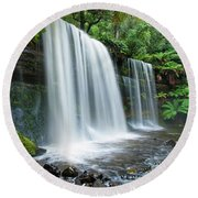 Russell Falls Round Beach Towel