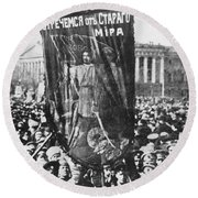 Russia: Revolution Of 1917 Round Beach Towel