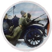 Russian Revolution, 1917 Round Beach Towel
