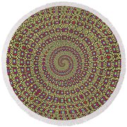 Saguaro Forest Abstract #2 Round Beach Towel