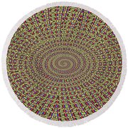 Saguaro Forest Abstract Round Beach Towel