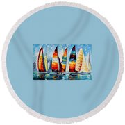 Sail Regatta Round Beach Towel