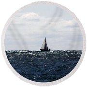 Sailboat Round Beach Towel