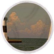 Sailing Away Round Beach Towel