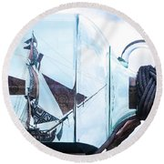 Sailing Within The Bottle Round Beach Towel