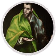 Saint James The Greater Round Beach Towel