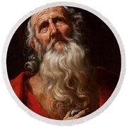 Saint Jerome Round Beach Towel