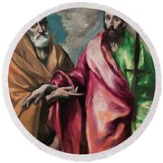Saint Peter And Saint Paul Round Beach Towel
