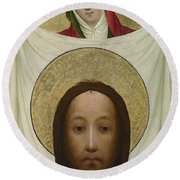 Saint Veronica With The Sudarium Round Beach Towel