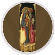 Saints Peter And Jerome Round Beach Towel