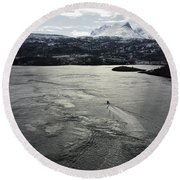 Saltstraumen View Round Beach Towel