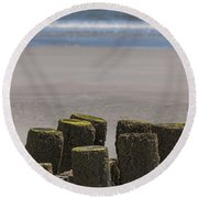 Salty Shores Round Beach Towel