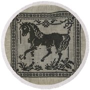 Sampler Round Beach Towel
