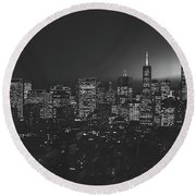 San Francisco At Sunset Round Beach Towel