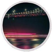 San Francisco Patry Ferry Casino Near Oakland Bay Bridge At Nigh Round Beach Towel