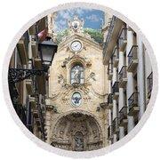 Basilica Of Saint Mary Of The Chorus - San Sebastian - Spain Round Beach Towel