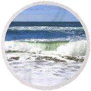 Sand And Sea 1 Round Beach Towel
