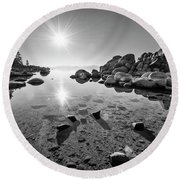Sand Harbor Star Round Beach Towel