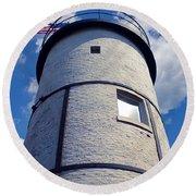 Sandy Neck Lighthouse Round Beach Towel