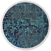 Satellite View Of Oklahoma City Round Beach Towel