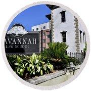 Savannah Law School Round Beach Towel