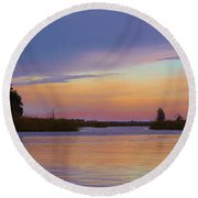Savannah Sunset Round Beach Towel