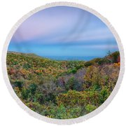 Scenic Blue Ridge Parkway Appalachians Smoky Mountains Autumn La Round Beach Towel