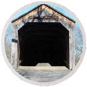 Schofield Ford Covered Bridge Round Beach Towel