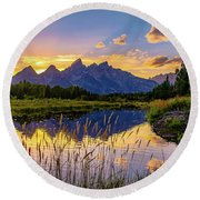 Schwabacher's Reflection Round Beach Towel