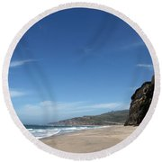 Scott Creek Beach California Usa Round Beach Towel