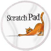 Scratchy Cat Round Beach Towel