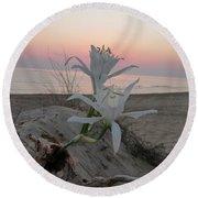 Summer Sea Lilies Round Beach Towel
