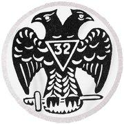 Seal: Freemasonry Round Beach Towel