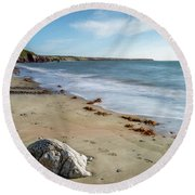 Seascape Wales Round Beach Towel