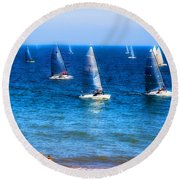 Seaside Fun Round Beach Towel